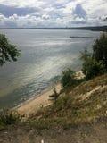 Gdynia Orlowo, Pologne, de hautes falaises de Danzig aboient Photo stock