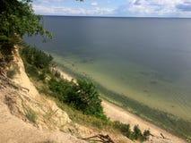 Gdynia Orlowo, Polska, wysokie falezy Gdańska zatoka Zdjęcia Stock