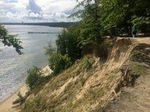 Gdynia Orlowo, Polska, wysokie falezy Gdańska zatoka Obraz Stock