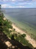 Gdynia Orlowo, Polska, wysokie falezy Gdańska zatoka Zdjęcie Royalty Free