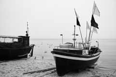 Gdynia Orlowo Regard artistique en noir et blanc Image stock