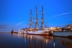 Gdynia på natten Royaltyfria Bilder