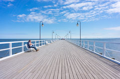 Gdynia pier Stock Images