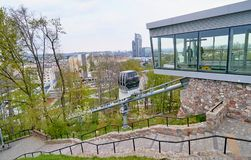 GDYNIA, POLAND - APRIL 30, 2018: Cable-terrain railway to Kamien Stock Images