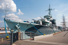 GDYNIA, POLAND - June 20: Blyskawica battleship on June 20, 2014 Stock Image