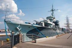 GDYNIA, POLAND - June 20: Blyskawica battleship on June 20, 2014 Stock Image