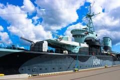 Gdynia, Poland - May 4, 2014: Polish warship museum battleship destroyer stock image