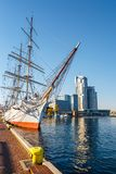 Waterfront in the harbor at Baltic Sea, Gdynia stock images