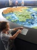 Gdynia, Polonia: Museo acquatico con la miniatura del Mar Baltico fotografia stock