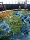 Gdynia, Polonia: Museo acquatico con la miniatura del Mar Baltico immagine stock libera da diritti