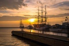 gdynia port Arkivbilder