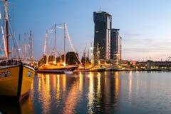 Gdynia port Zdjęcia Royalty Free