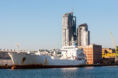 Gdynia port Royaltyfria Bilder