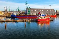 gdynia port Royaltyfri Foto