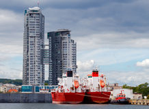 Gdynia Port maritime Images stock