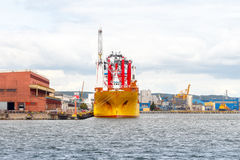 Gdynia. Sea port Stock Images