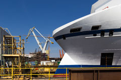 The Gdynia shipyard stock photography