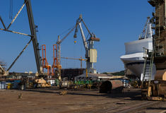 The Gdynia shipyard royalty free stock photo