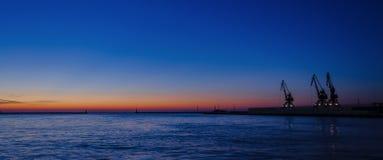 GDYNIA - SUNRISES AND SUNSETS OVER THE SEA COAST Royalty Free Stock Photo