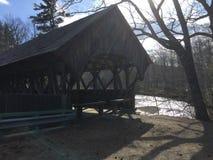 Gdzieś w Maine Zakrywający mosty zdjęcia stock