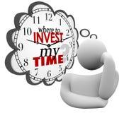 Gdzie Inwestować Mój czasu myśliciela myśli chmury pytanie Obraz Stock