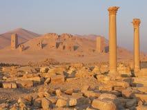 gdzie są ruiny pustyni Fotografia Stock