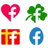 Geänderte facebook Ikonen stock abbildung