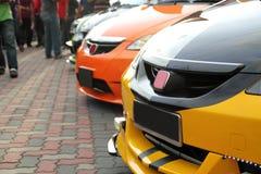 Geänderte Sport-Autos Stockfotografie