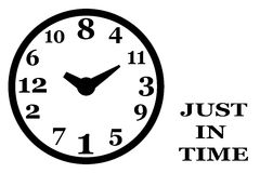 Geänderte Uhr, Buchstaben Stockbild