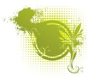 Geërodeerd bloemenmedaillon Stock Fotografie