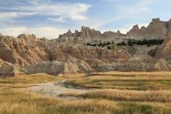 Geërodeerde Bergen van Badlands, Zuid-Dakota royalty-vrije stock afbeelding