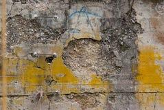 Geërodeerde concrete muur 0500 royalty-vrije stock fotografie