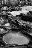 Geërodeerde Riverbank-het Schoppen Paardrivier royalty-vrije stock fotografie