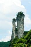 Geërodeerde rotsstapels Royalty-vrije Stock Afbeelding