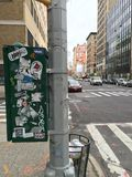 Geëtiketteerde doos in de Stad van New York Royalty-vrije Stock Foto's
