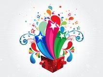 Geëxplodeerde Abstracte kleurrijke magische doos vectorillustratie vector illustratie