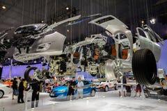 Geëxplodeerde vertoning van auto van Buick, 2014 CDMS Stock Afbeelding