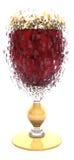 Geëxplodeerdm rode wijnglas Stock Afbeelding