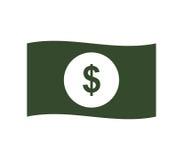 Geïllustreerd dollarpictogram Stock Foto