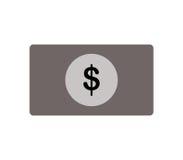Geïllustreerd dollarpictogram Stock Afbeeldingen