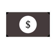 Geïllustreerd dollarpictogram Royalty-vrije Stock Foto