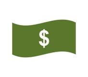 Geïllustreerd dollarpictogram Stock Afbeelding