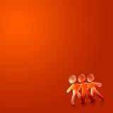Geïllustreerda Paar V van de gelukkige Valentijnskaart Dag Stock Foto