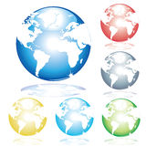 Geïllustreerde aarde Royalty-vrije Stock Afbeelding