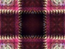Geïllustreerde Abstracte Achtergrond van Roze Geruit Patroon met Zigzagranden royalty-vrije stock fotografie