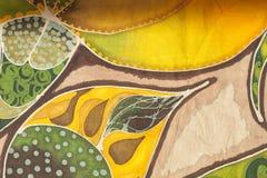 Geïllustreerde Bloemen Textielachtergrond Stock Afbeelding