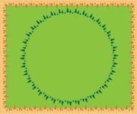 Geïllustreerde bomenachtergrond Stock Foto's