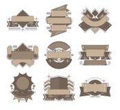 Geïllustreerde en creatieve vectorlintreeks Royalty-vrije Stock Afbeeldingen