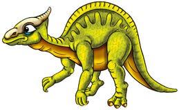 Geïllustreerde groene dinosaurus Royalty-vrije Stock Fotografie