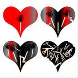 Geïllustreerde hart en het roken Royalty-vrije Stock Foto